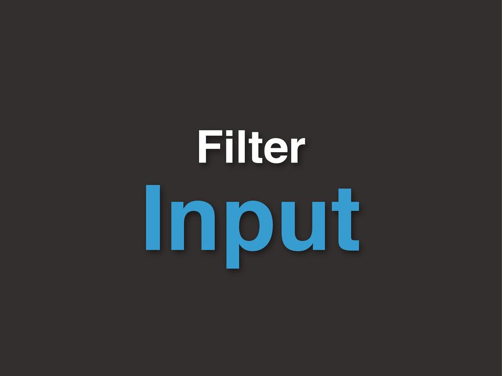 Filter Input