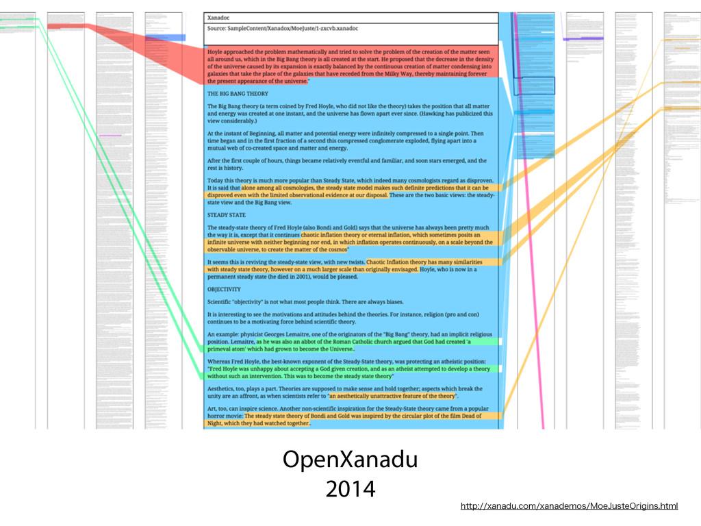 OpenXanadu 2014 IUUQYBOBEVDPNYBOBEFNPT.P...