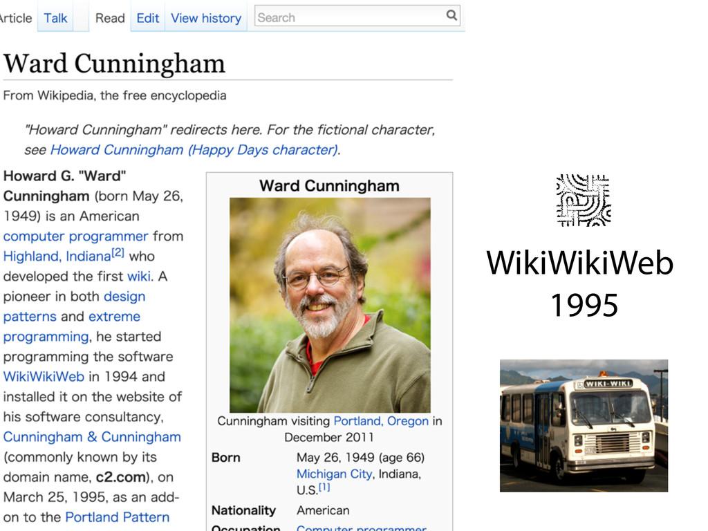 WikiWikiWeb 1995