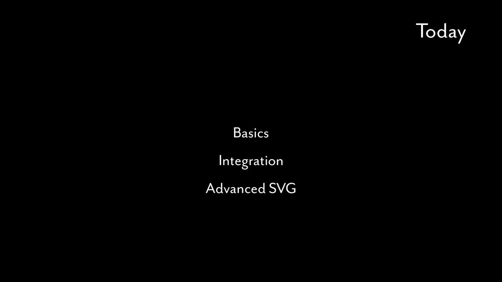 Today Basics Integration Advanced SVG