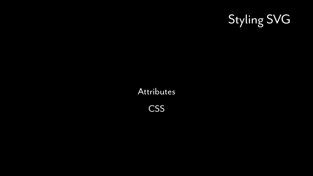Styling SVG Attributes CSS