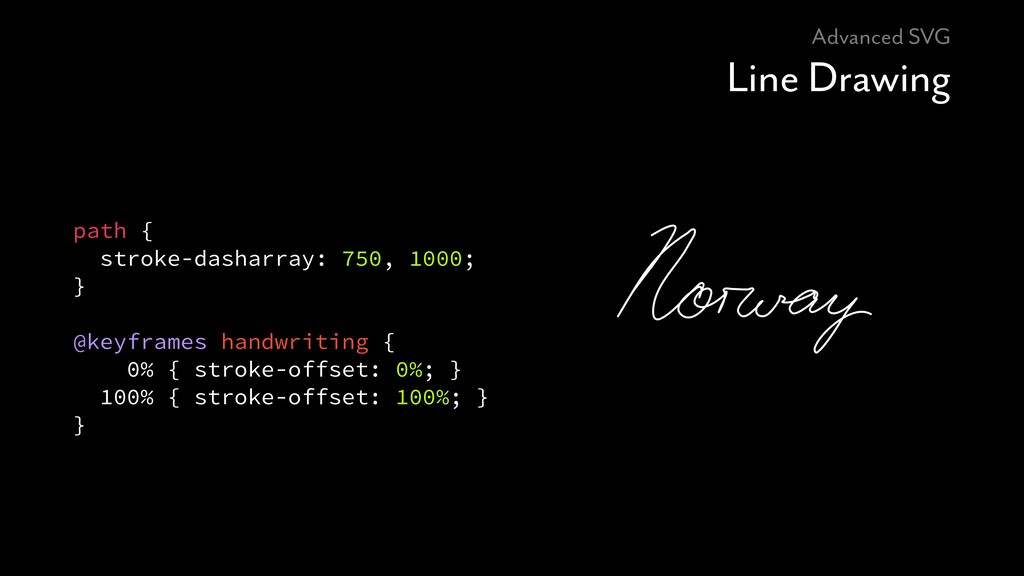 Advanced SVG Line Drawing path { stroke-dasharr...