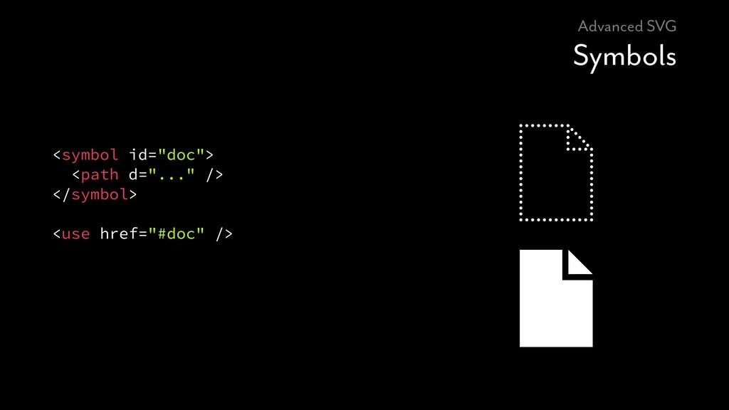 """Advanced SVG Symbols <symbol id=""""doc""""> <path d=..."""