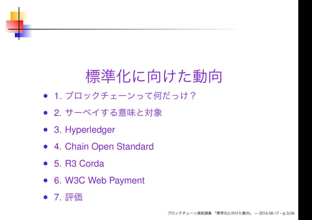 1. 2. 3. Hyperledger 4. Chain Open Standard 5. ...