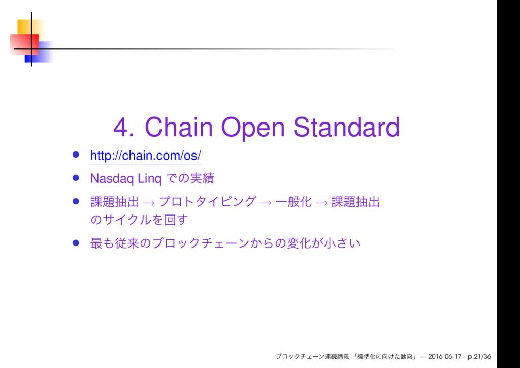 4. Chain Open Standard http://chain.com/os/ Nas...