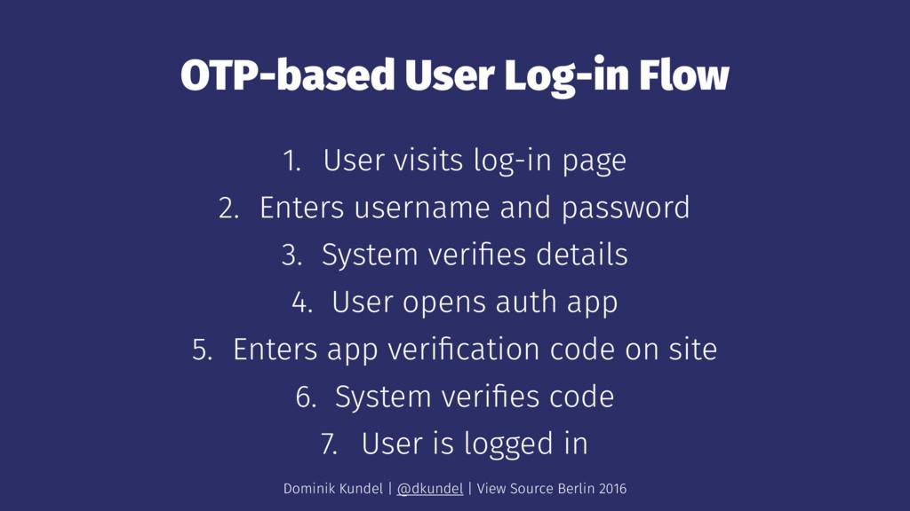 OTP-based User Log-in Flow 1. User visits log-i...