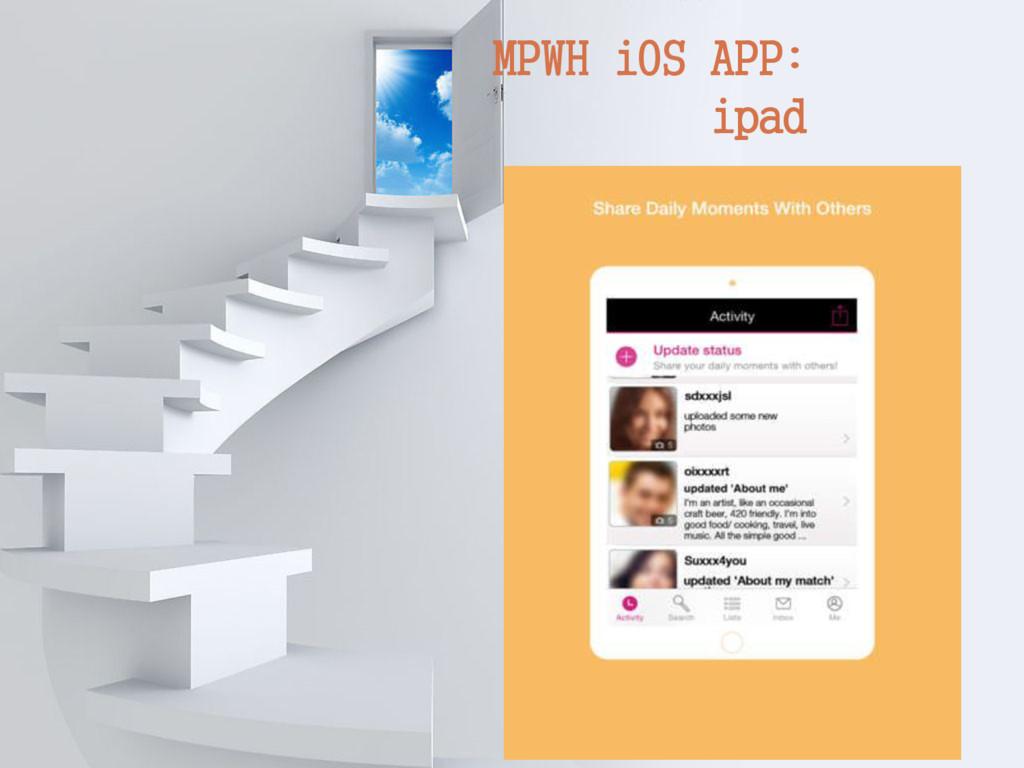 MPWH iOS APP: ipad