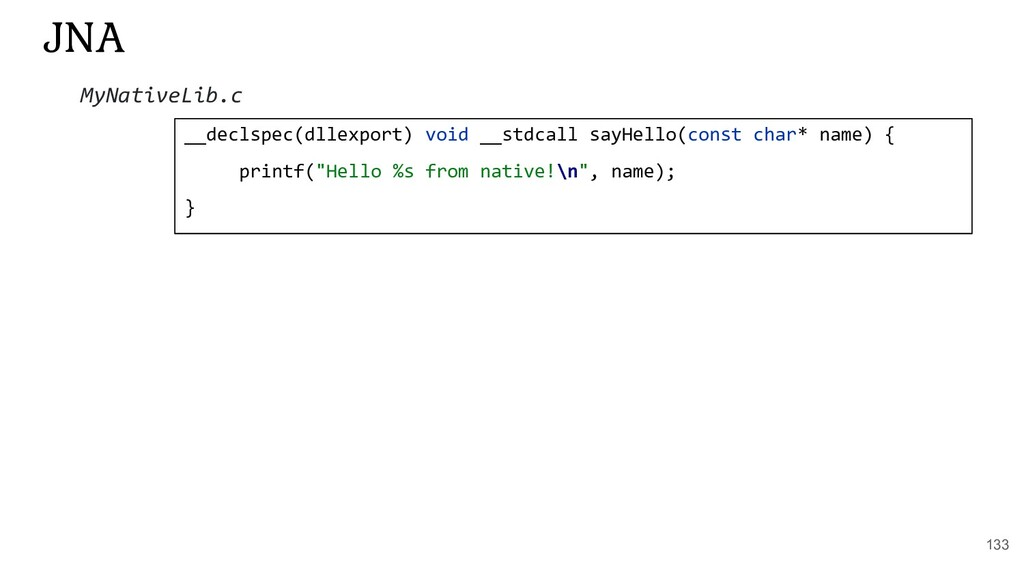 133 JNA __declspec(dllexport) void __stdcall sa...