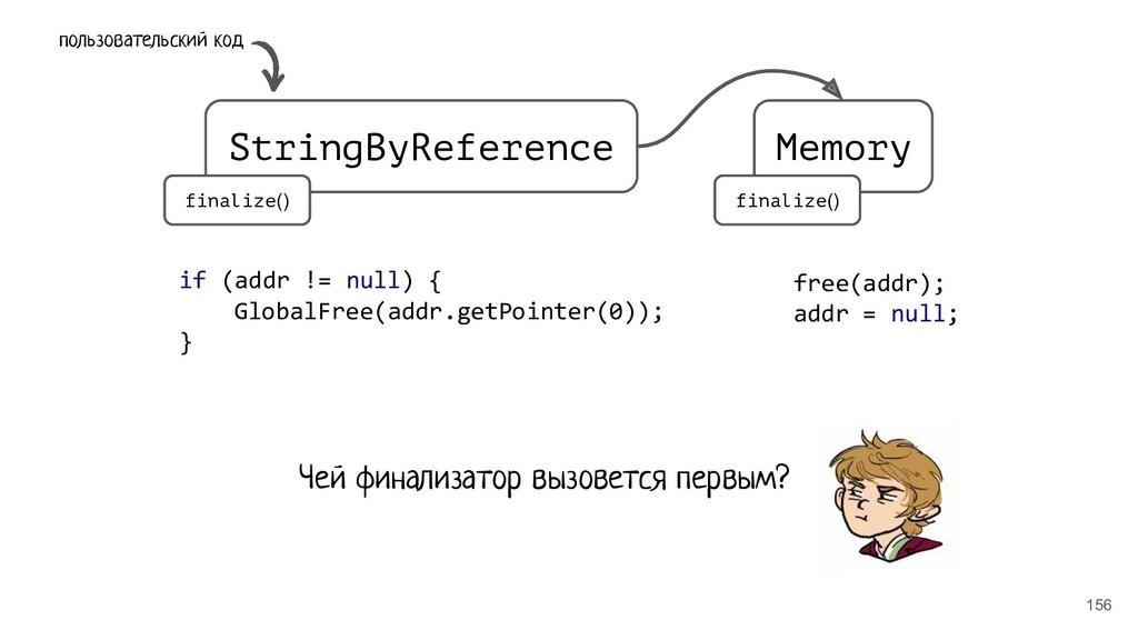 156 StringByReference Memory finalize() finaliz...