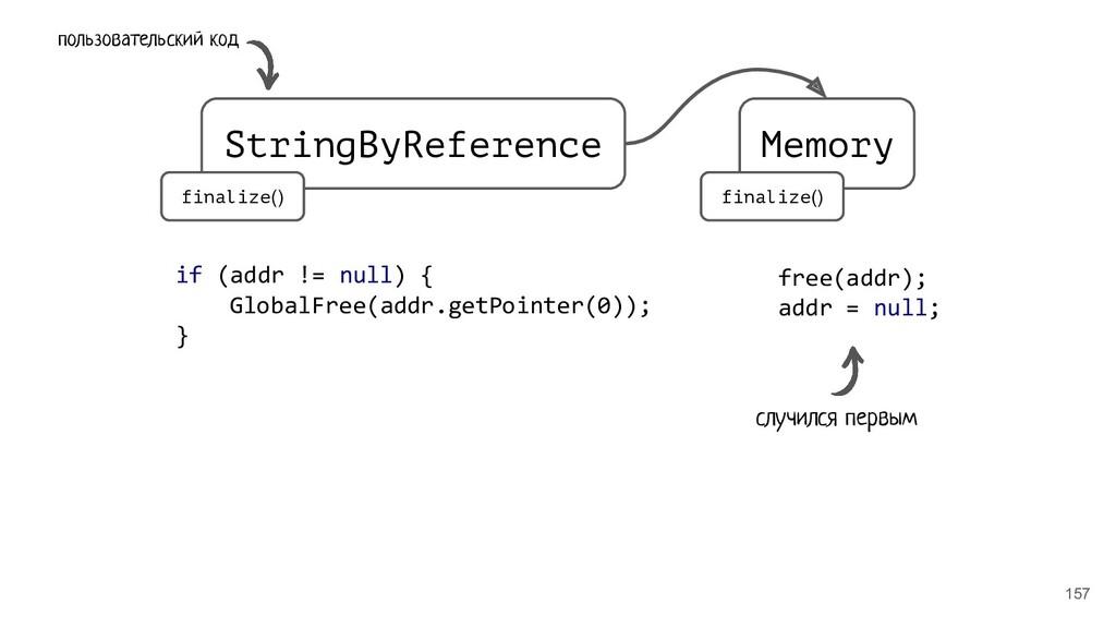 157 StringByReference Memory finalize() finaliz...