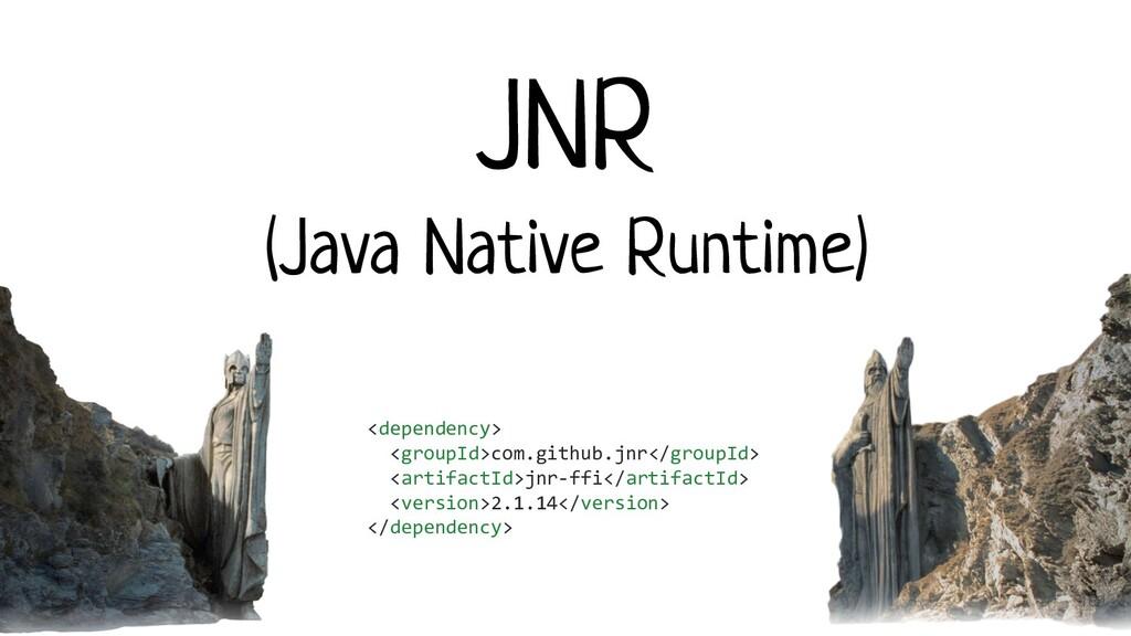 (Java Native Runtime) JNR <dependency> <groupId...