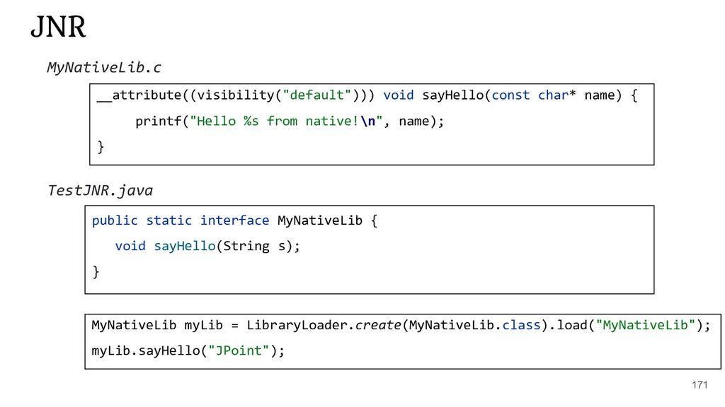 "171 JNR __attribute((visibility(""default""))) vo..."