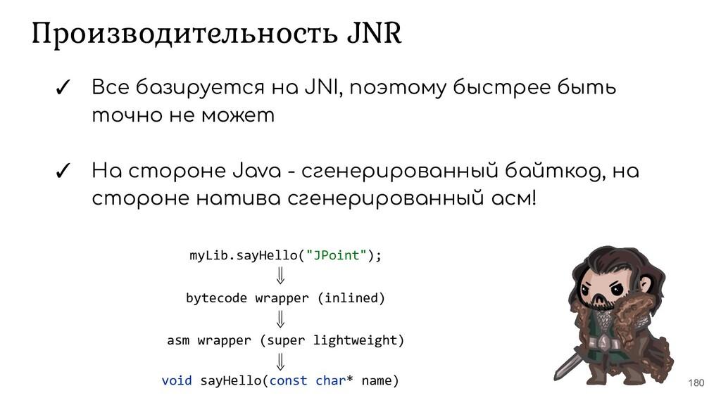 Производительность JNR 180 ✓ Все базируется на ...
