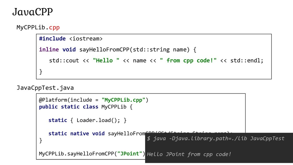 188 JavaCPP #include <iostream> inline void say...