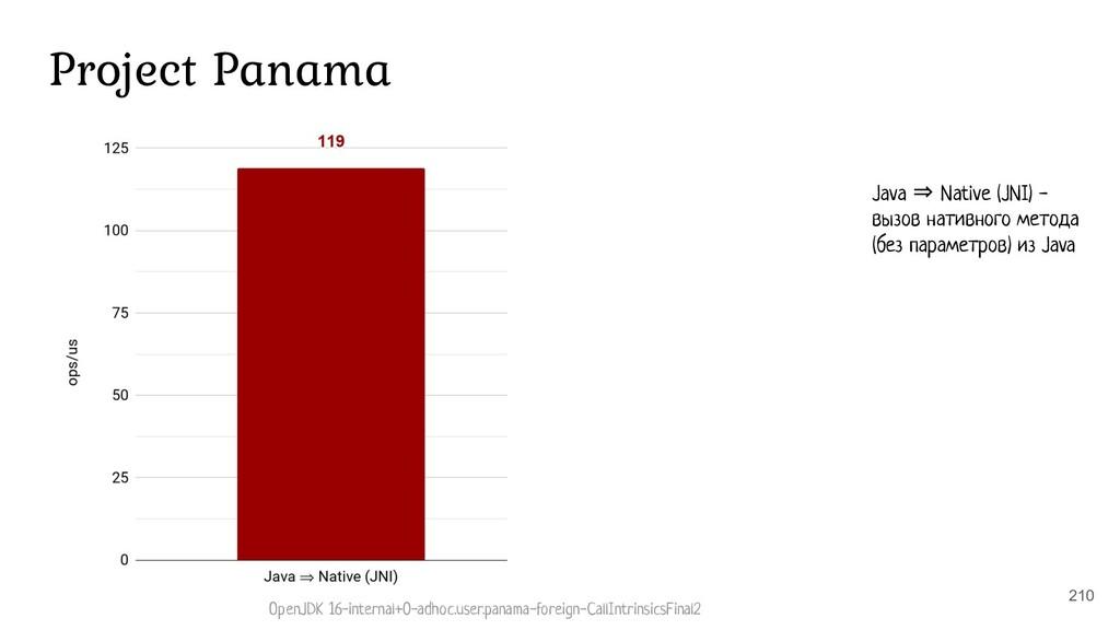 210 Project Panama Java ⇒ Native (JNI) - вызов ...