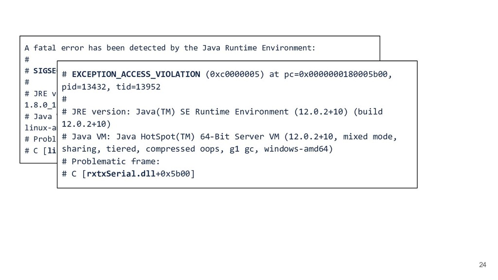 24 A fatal error has been detected by the Java ...