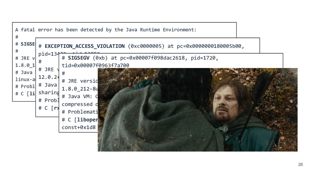 26 A fatal error has been detected by the Java ...
