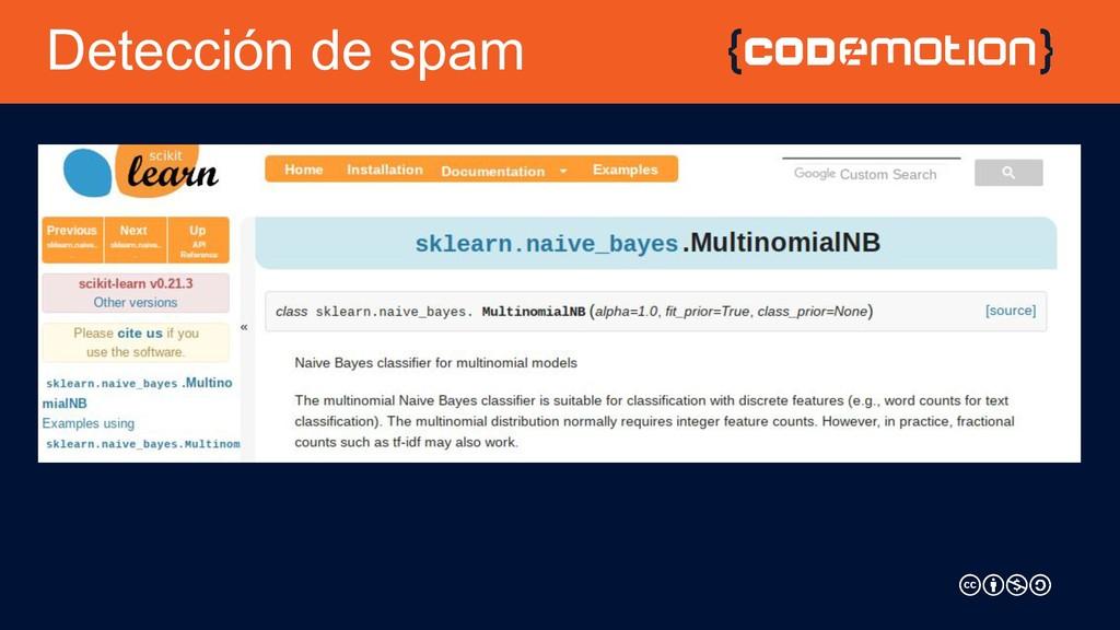 Detección de spam