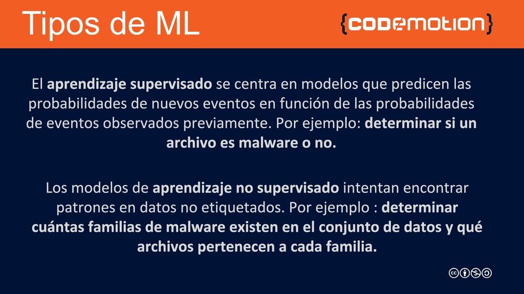 Tipos de ML