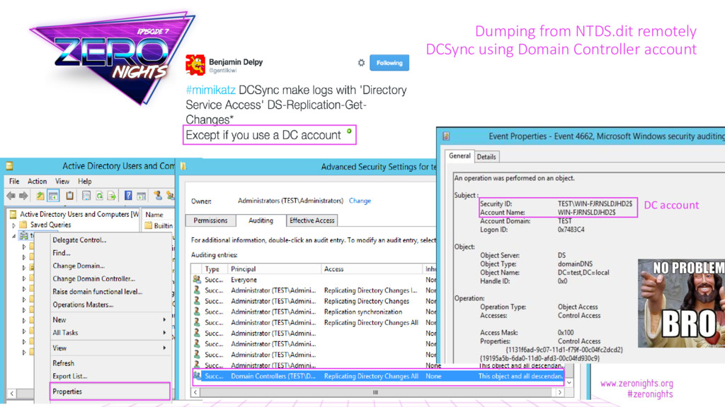 Dumping from NTDS.dit remotely DCSync using Dom...