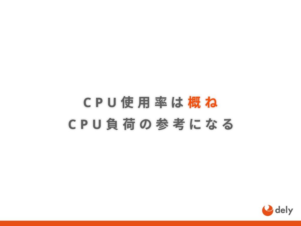 C P U 使 用 率 は 概 ね C P U 負 荷 の 参 考 に な る
