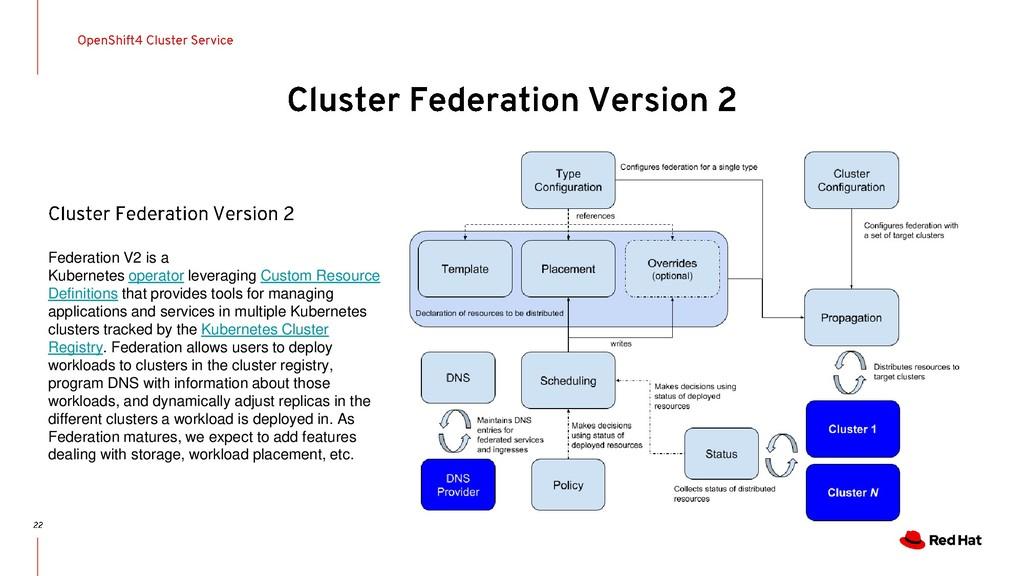 Federation V2 is a Kubernetes operator leveragi...