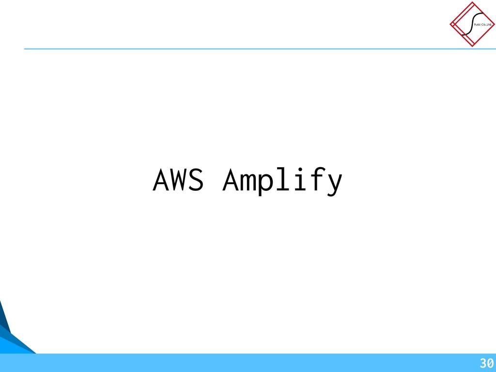 AWS Amplify !30