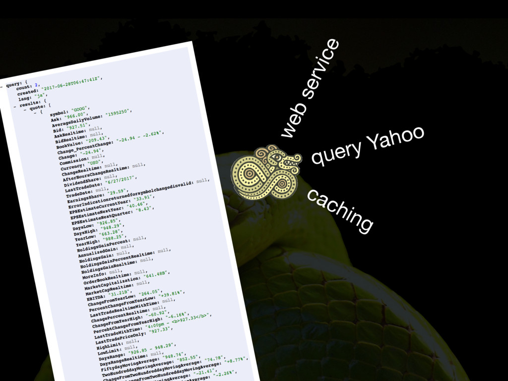 web service query Yahoo caching