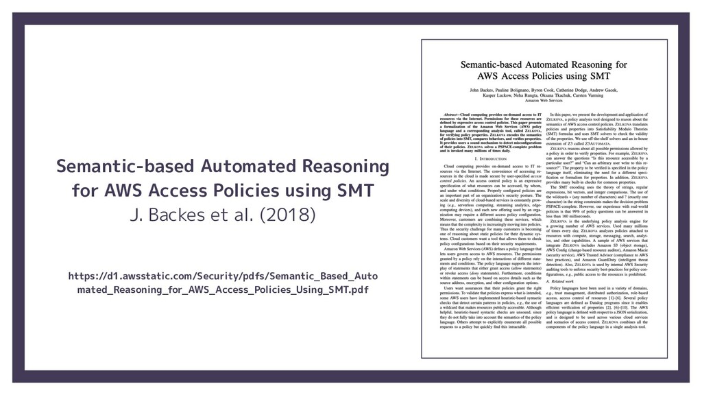 Semantic-based Automated Reasoning for AWS Acce...