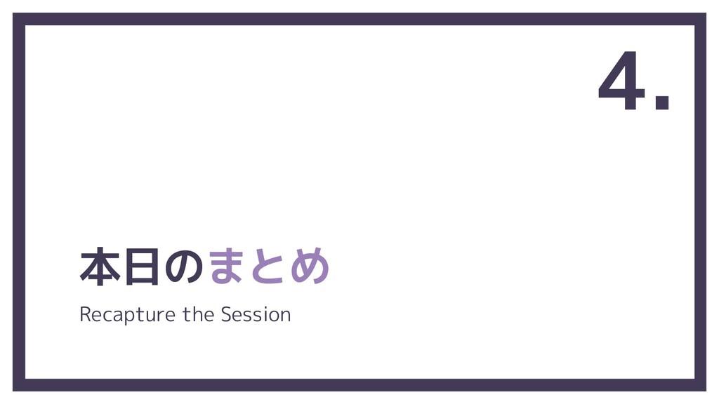 本日のまとめ 4. Recapture the Session