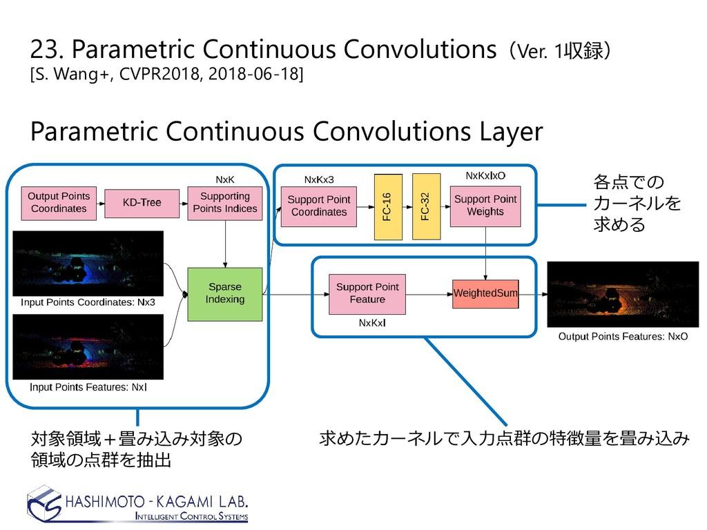 23. Parametric Continuous Convolutions(Ver. 1収録...