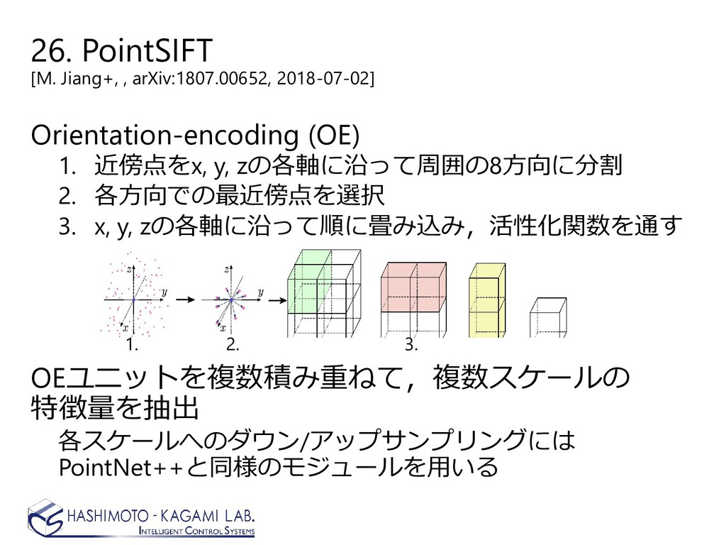 26. PointSIFT [M. Jiang+, , arXiv:1807.00652, 2...