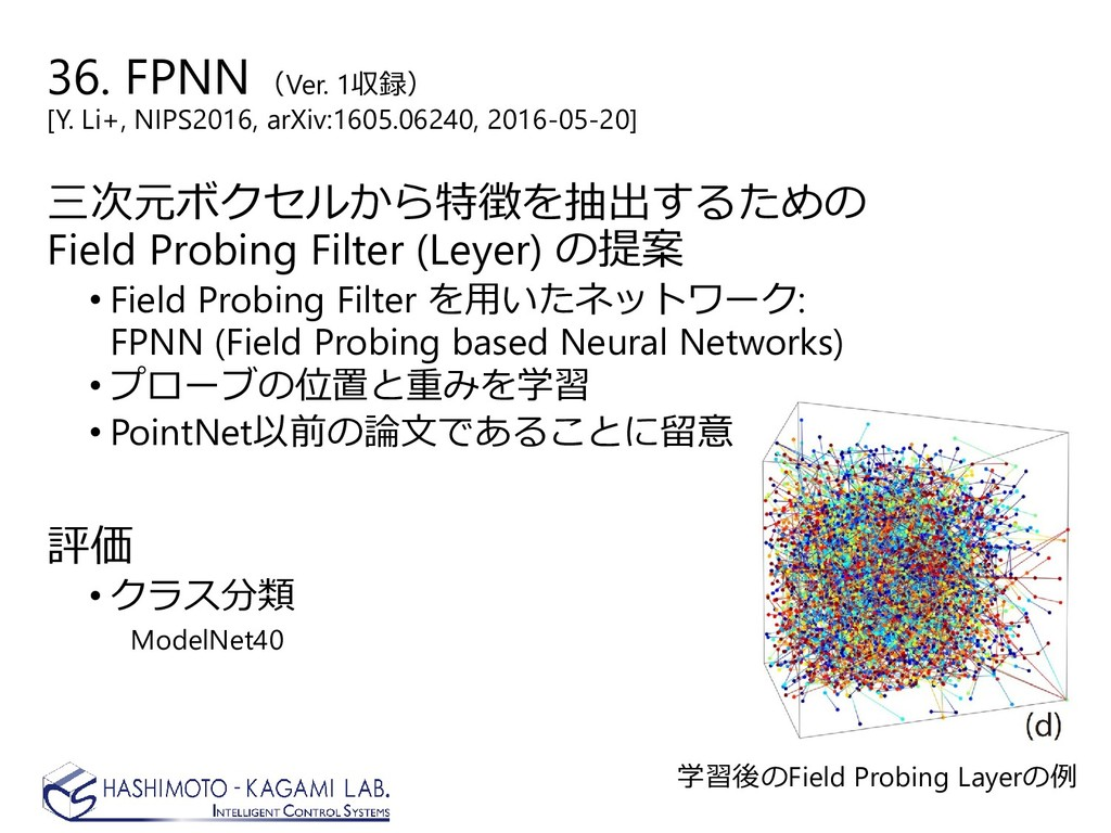 36. FPNN (Ver. 1収録) [Y. Li+, NIPS2016, arXiv:16...