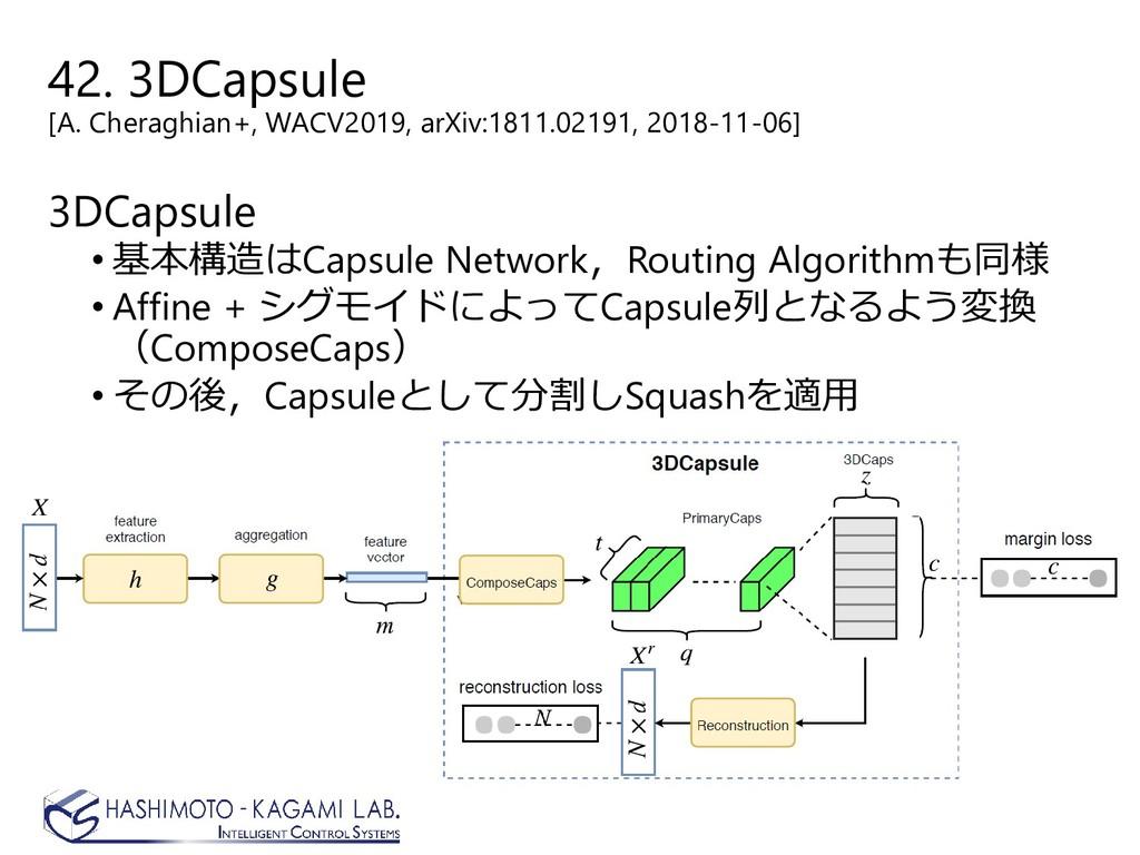 42. 3DCapsule [A. Cheraghian+, WACV2019, arXiv:...