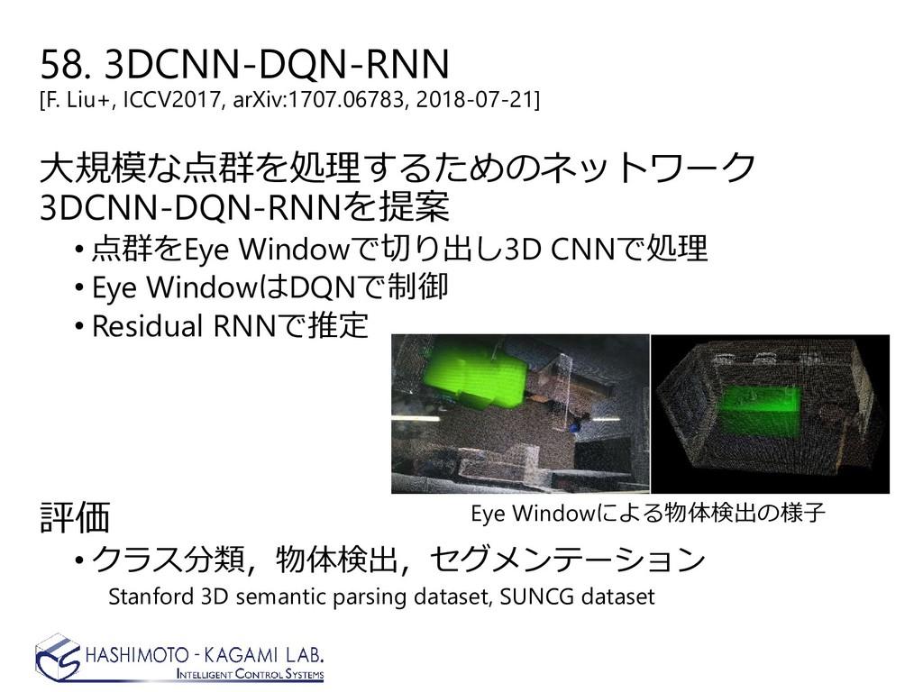 58. 3DCNN-DQN-RNN [F. Liu+, ICCV2017, arXiv:170...