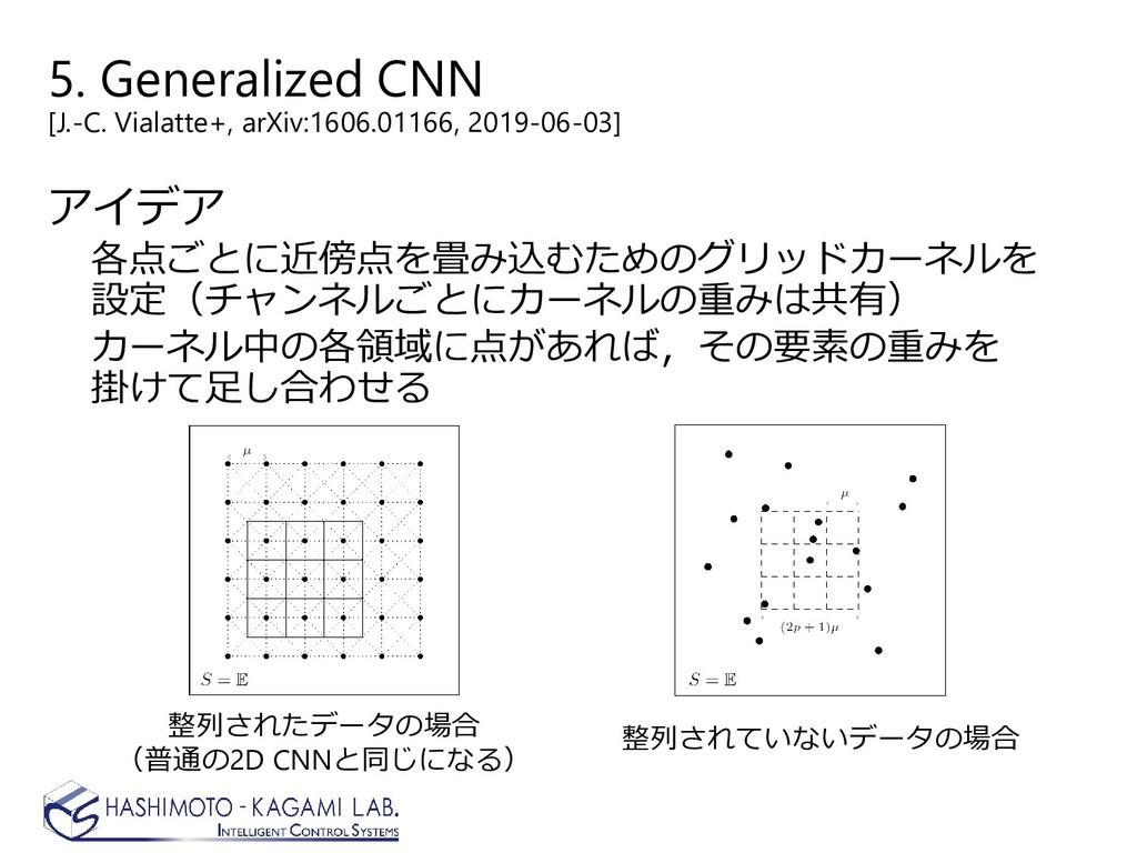 5. Generalized CNN [J.-C. Vialatte+, arXiv:1606...