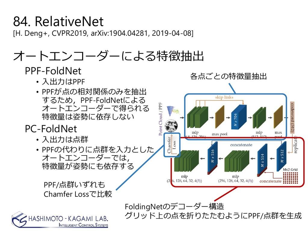 84. RelativeNet [H. Deng+, CVPR2019, arXiv:1904...