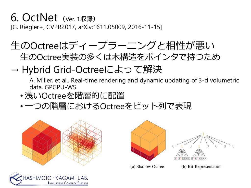 6. OctNet (Ver. 1収録) [G. Riegler+, CVPR2017, ar...
