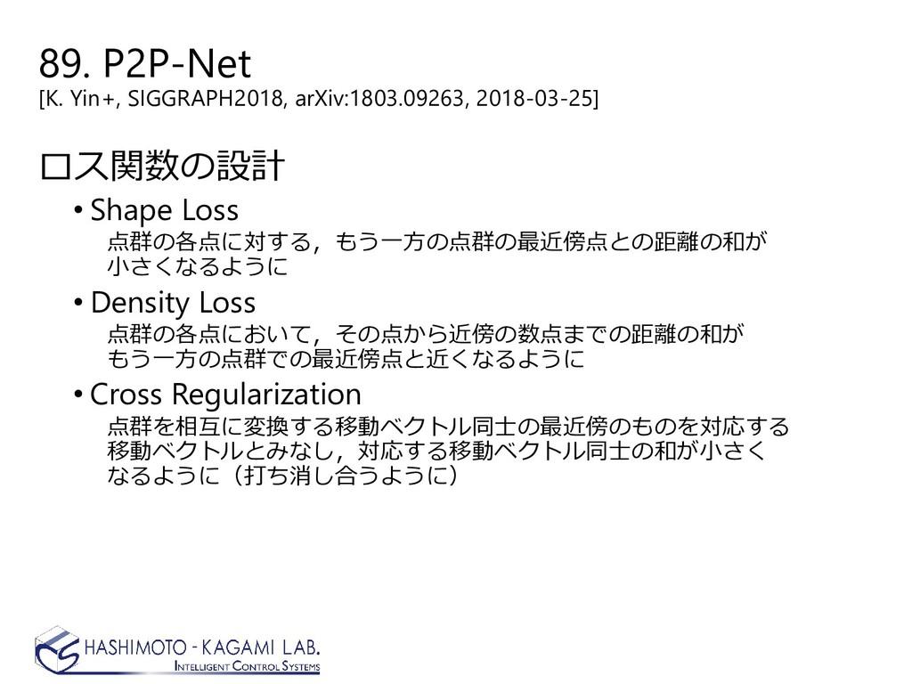 89. P2P-Net [K. Yin+, SIGGRAPH2018, arXiv:1803....