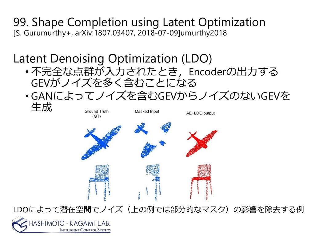 99. Shape Completion using Latent Optimization ...