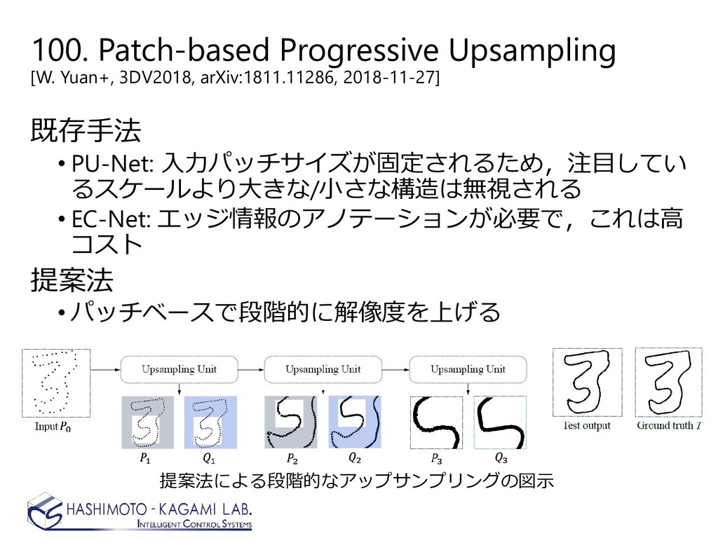 100. Patch-based Progressive Upsampling [W. Yua...