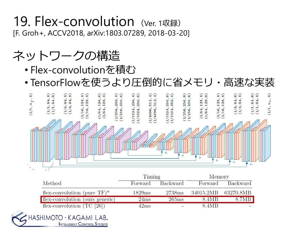 19. Flex-convolution(Ver. 1収録) [F. Groh+, ACCV2...