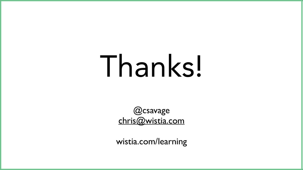 Thanks! @csavage	 
