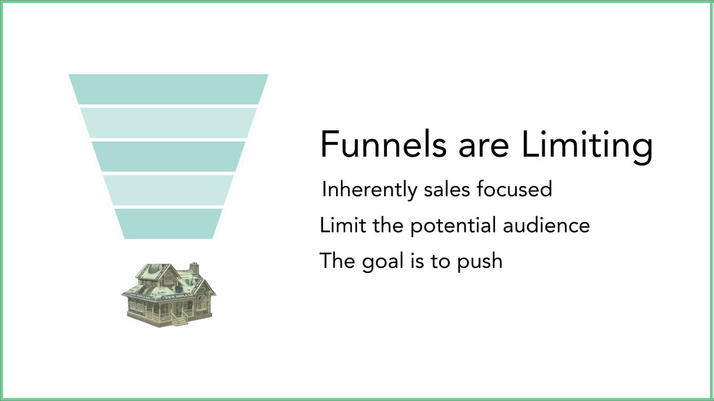 Funnels are Limiting Inherently sales focused L...