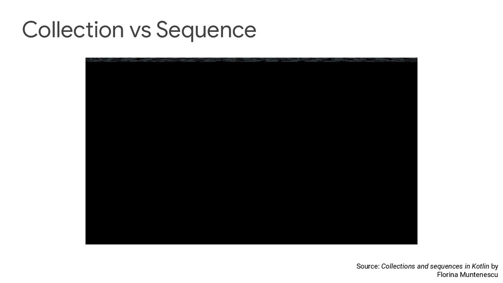 Collection vs Sequence Source: Collections and ...