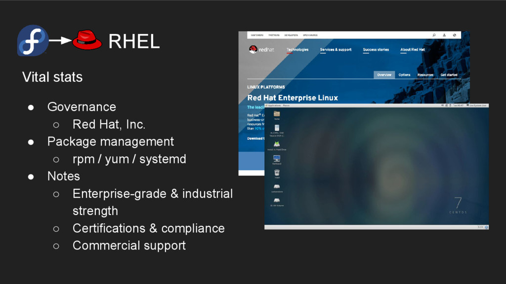 RHEL Vital stats ● Governance ○ Red Hat, Inc. ●...