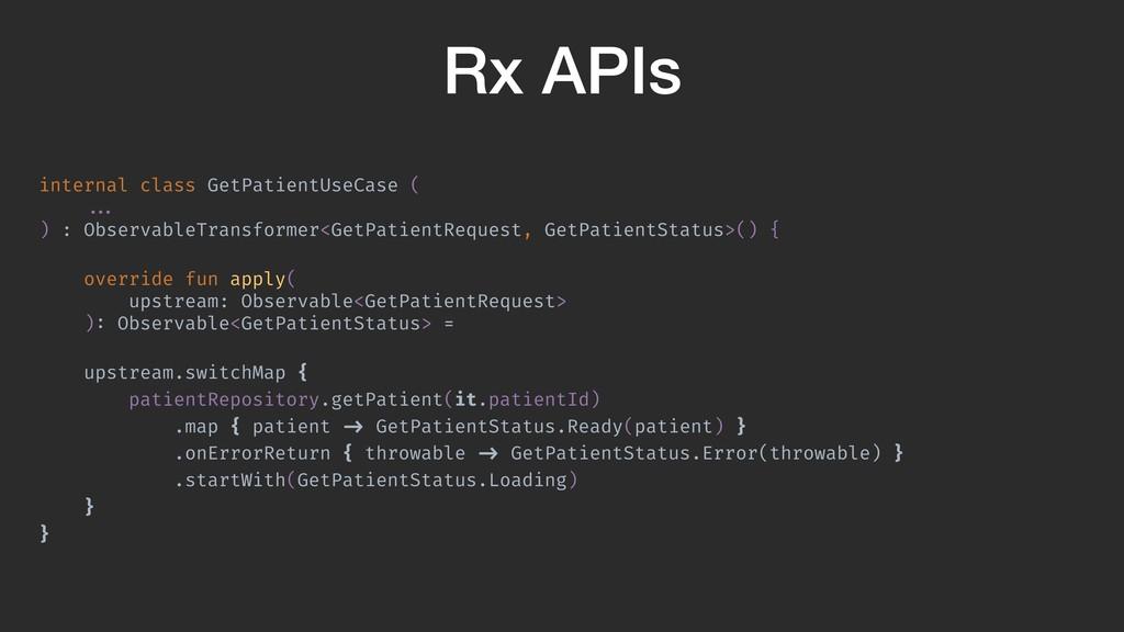 Rx APIs internal class GetPatientUseCase ( ... ...