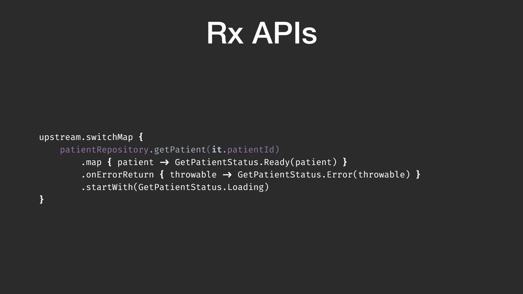 Rx APIs upstream.switchMap { patientRepository....
