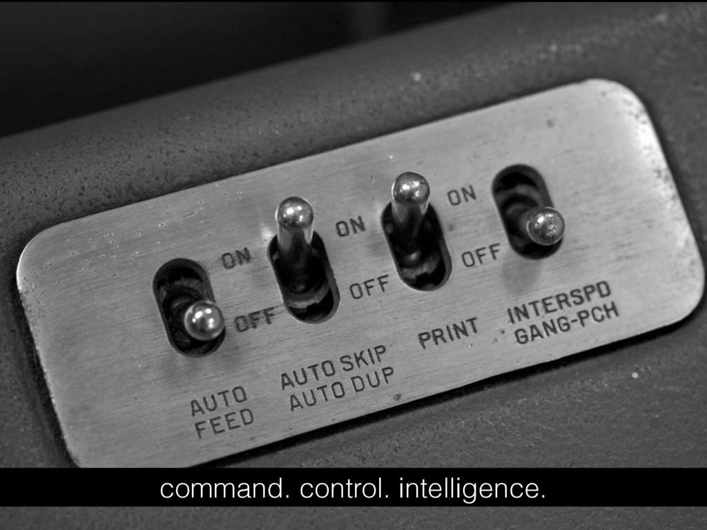 command. control. intelligence.