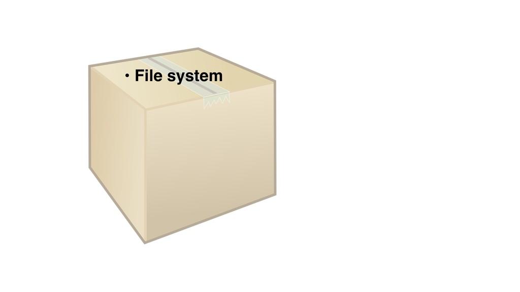 • File system